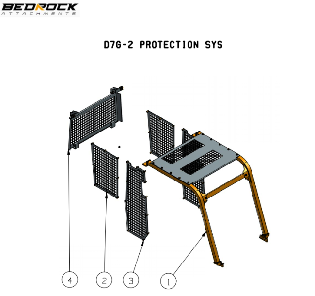 Screens and Sweeps fits CAT D7G-2 Bulldozer