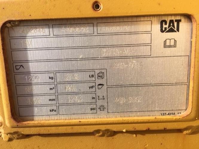 CATERPILLAR 14M V PLOW