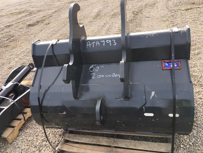 """NM ATTACHMENTS 60"""" DITCH CLEANING BUCKET 200 WBM"""