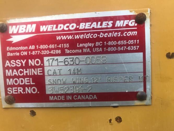 WELDCO BEALES MFG 171-630-0058