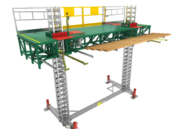 Mast Climbing Platform 14' Unit