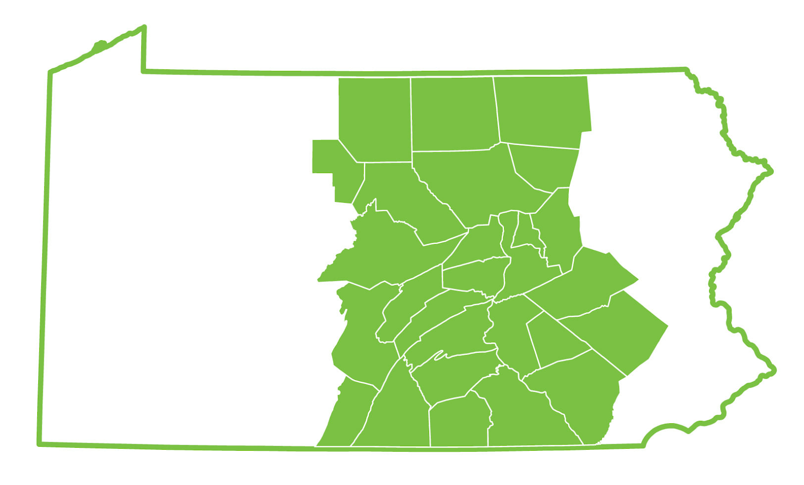 The central and south Pennsylvania area, our proud homeland that Lift, Inc. is happy to serve