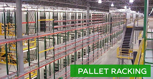 Pallet racking options for sale at Lift, Inc.
