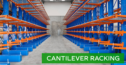 Cantilever racking options for sale at Lift, Inc.