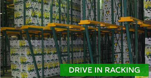 Drive in racking options for sale at Lift, Inc.