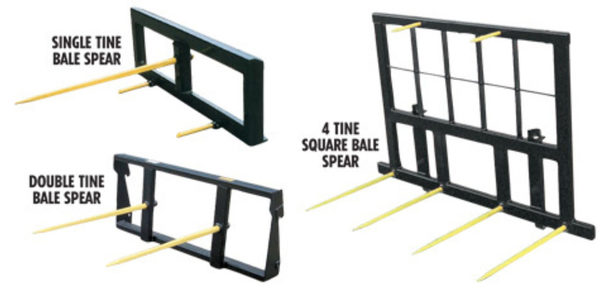 Koyker Four Tine 8 Ft Square Bale Spear