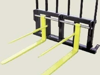 Koyker Pallet Fork with Double Tine Bale Spears