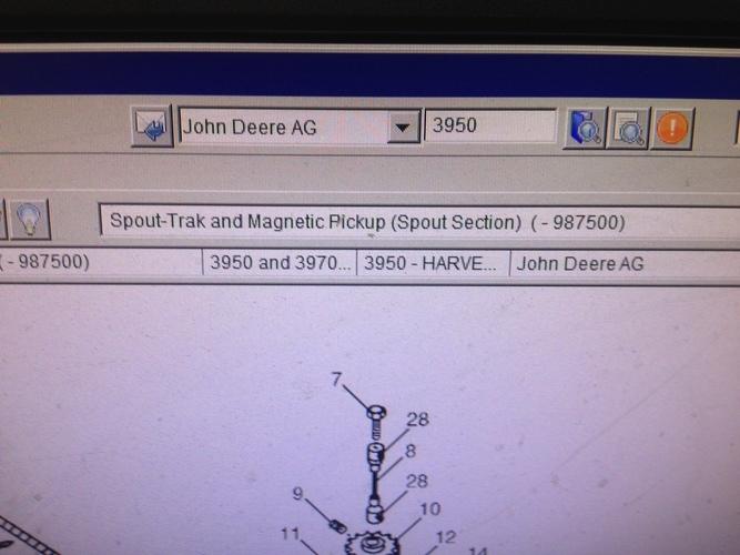 John Deere SPOUT TRACK FOR 3950/3970 FORAGE HARVESTER